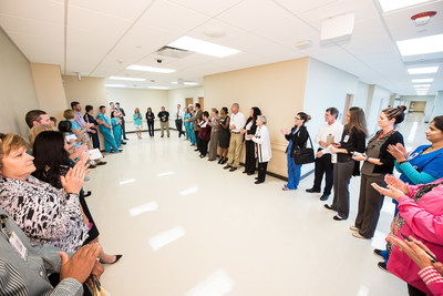 Each morning Memorial Hermann Sugar Land Hospital managers and directors participate in a safety huddle to address any operations concerns or anticipated issues.