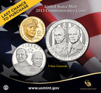 Last chance to purchase!  Sales of the United States Mint 5-Star Generals Commemorative Coins will end December 31, 2013.  (PRNewsFoto/United States Mint)