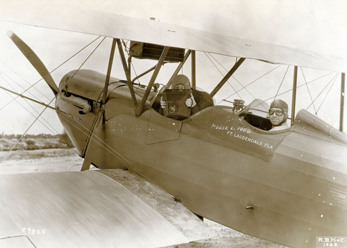 Pilot Merle Fogg and Photographer RB Hoit 1928.  (PRNewsFoto/Fort Lauderdale Historical Society)