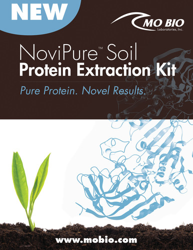 MO BIO introduces a new kit for extraction of pure protein from soil samples.  (PRNewsFoto/MO BIO Laboratories,  ...