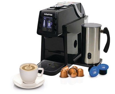 Platinum Capsule Coffee Maker : Gourmia Announces World s First Coffee Maker to Brew K-Cups and All Espresso Capsules