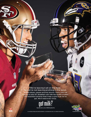 "Colin Kaepernick and Ray Rice Go Head to Head in the ""Big Easy"".  (PRNewsFoto/MilkPEP)"