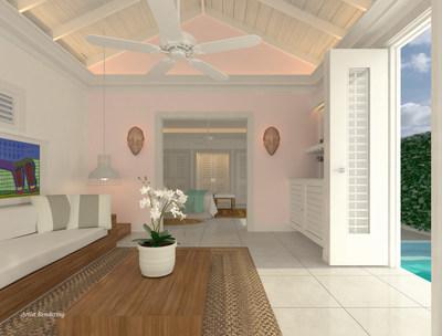 The Signature Oasis Spa Villa living room.