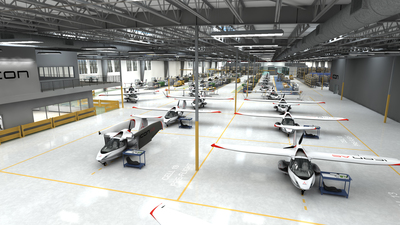 ICON Aircraft Production Facility in Vacaville, California (PRNewsFoto/ICON Aircraft)