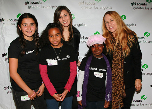 GIRL SCOUTS ROCK!  Powered by Roland Launched in Los Angeles Today