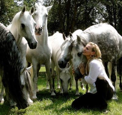Arabian Trainer Sylvia Zerbini.  (PRNewsFoto/BG Equestrian Resort)