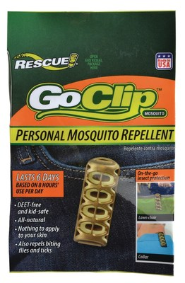 The GoClip(TM) repellency against mosquitoes, biting flies and ticks will last a total of 48 hours -- or 6 days, based on 8 hours' use per day. When not in use, the resealable zippered package helps it maintain potency.