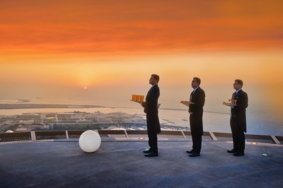 Bespoke butler service is just part of the St. Regis Helipad Sunset Supper Experience (PRNewsFoto/The St. Regis Abu Dhabi)