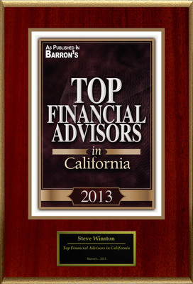 "Steve Winston Selected For ""Top Financial Advisers."" (PRNewsFoto/American Registry)"
