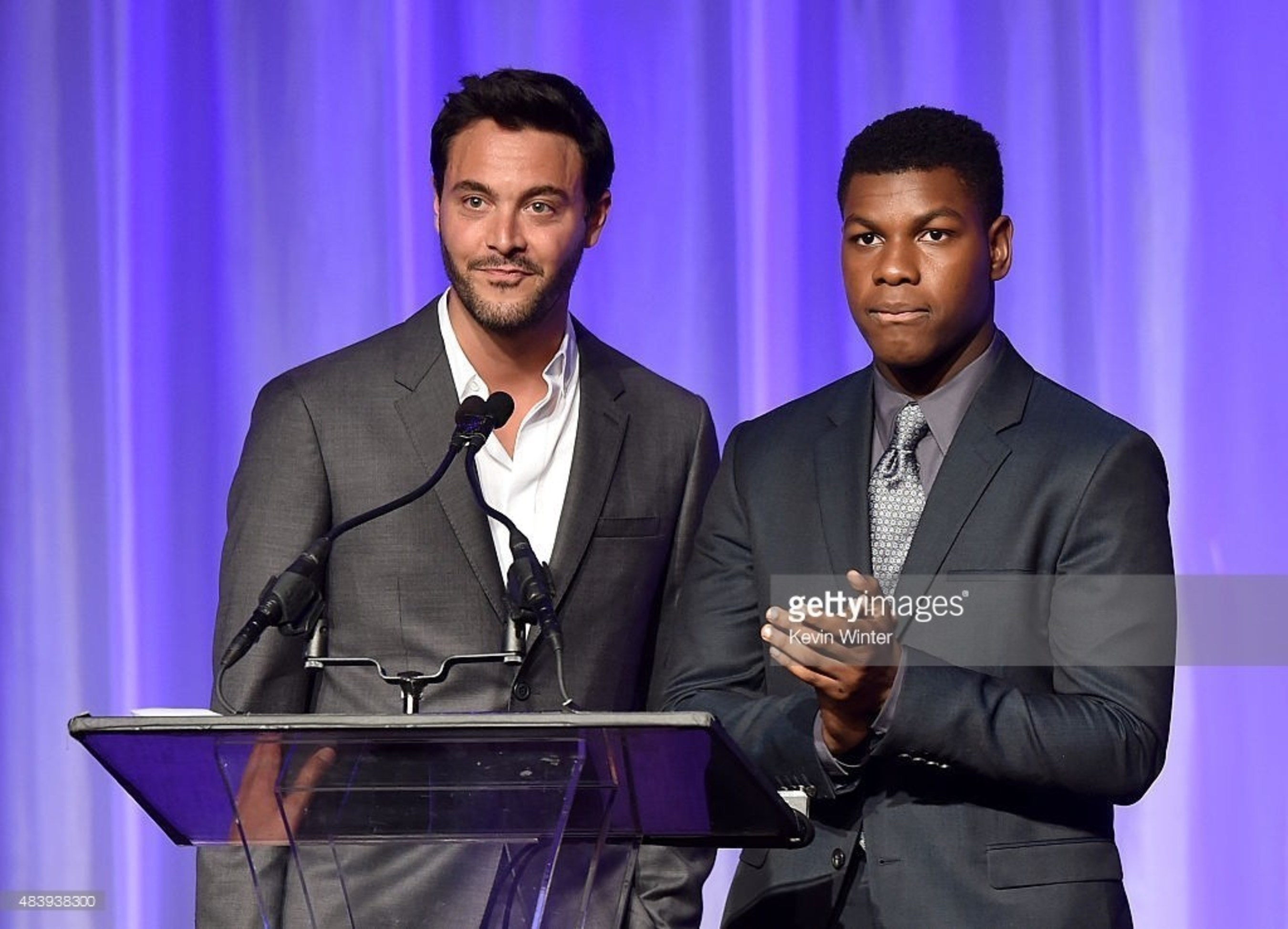 Jack Huston and John Boyega Accept HFPA Grant for Exceptional Minds
