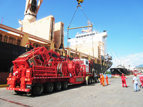 Jereh equipment for PDVSA arriving at Guanka Port, Venezuela (PRNewsFoto/Jereh Oilfield Services Group)