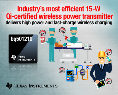 TI announces the only Qi-certified 15-W wireless power transmitter