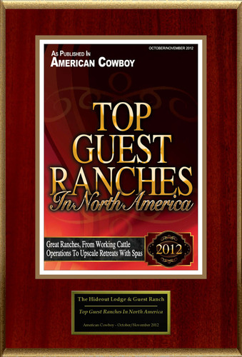 """The Hideout Lodge & Guest Ranch Selected For """"Top Guest Ranches In North America"""".  (PRNewsFoto/The ..."""