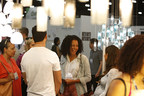 Attendees enjoy innovative product exhibits at Dwell on Design. photo by Peter Williams