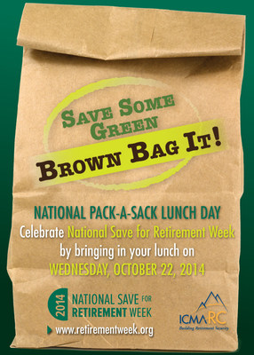 National Pack-a-Sack Lunch Day will be on Wednesday, Oct. 22, 2014.
