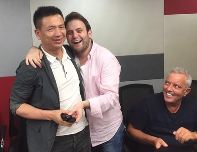 An All Smiles Executive Moment. Left to Right: Kehui Cai, Chairman of DragonPass, Eli Ostreicher, CEO of Regal Wings, Mark Koch, CEO of DragonPass