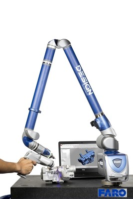 The FARO Design ScanArm features optically-superior blue laser technology with fast scanning speed to deliver high-resolution point cloud data and the ability to seamlessly scan challenging materials without the need for spray or targets.