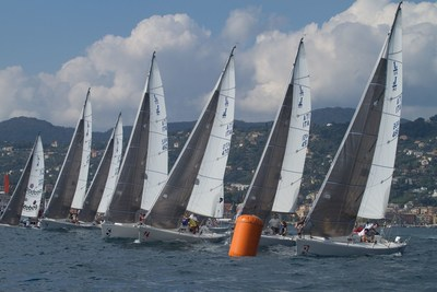 Santa Margherita Ligure 2016: Competitive boats during the Rolex MBA's Conference  &  Regatta organized by SDA Bocconi School of Management and Yacht Club Italiano in partnership with Rolex