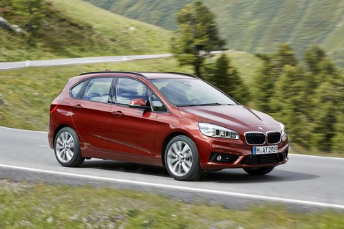 The BMW 2 Series Active Tourer: Sales increased by more than 55% in November 2015. (PRNewsFoto/BMW Group)