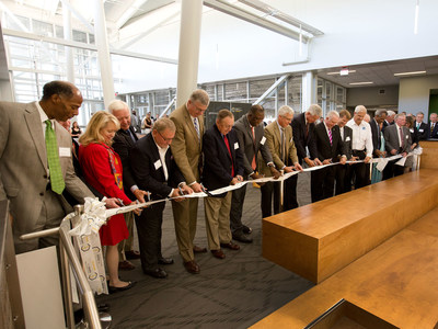 Ribbon is cut at Greenville Technical College's Center for Manufacturing Innovation.