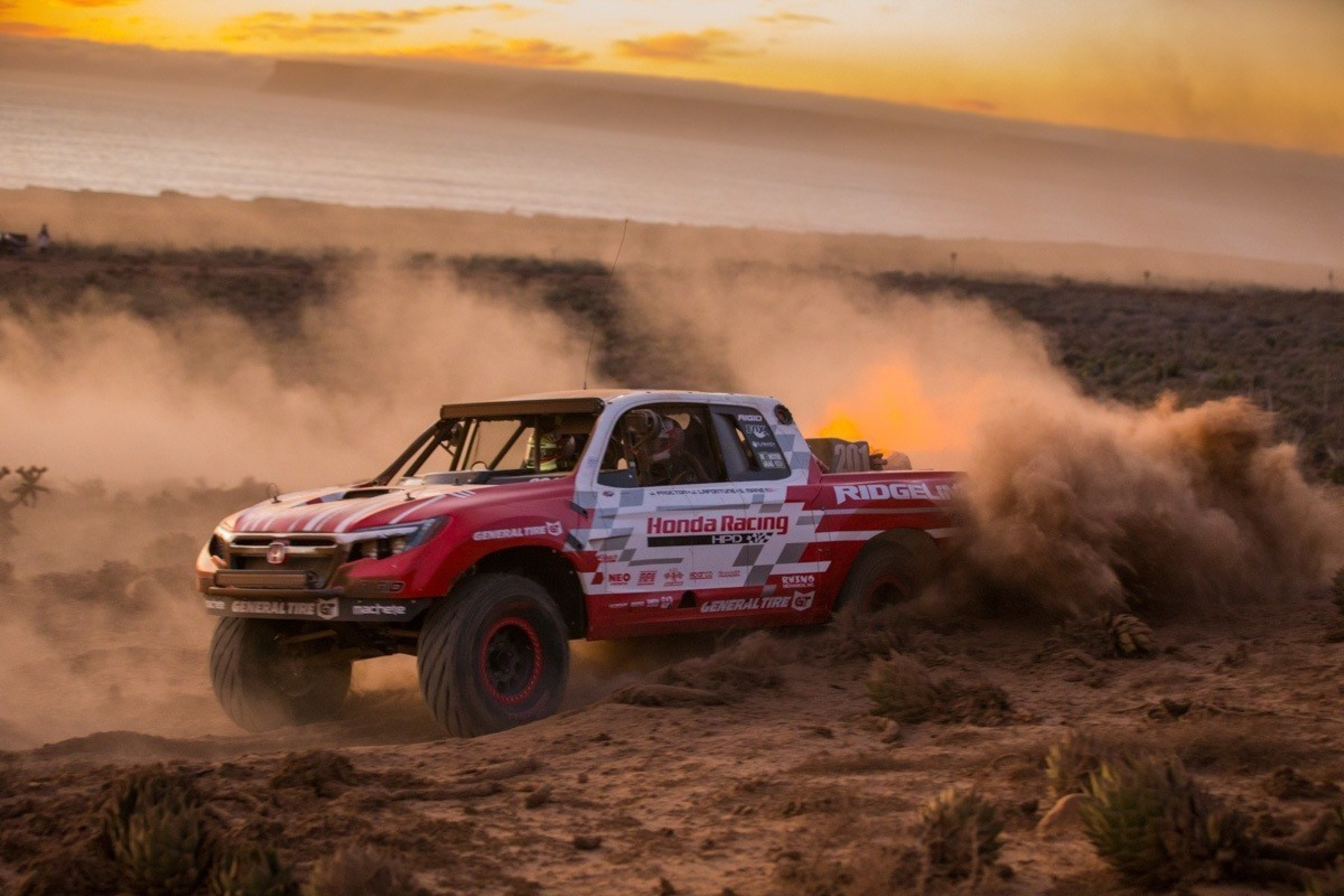 The new Honda Ridgeline Baja Race Truck won the Class 2 Unlimited category in this weekend's SCORE Baja 1000