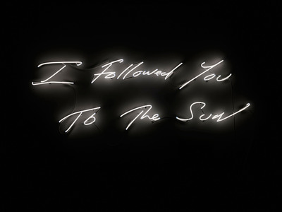 """Jacquelyn Soffer curates legendary hotel's evolving visual art collection. The latest installation Fontainebleau Miami Beach acquired includes the neon work """"I Followed You to The Sun,"""" (2013) by Tracey Emin, which will debut at the resort in December during a special event with the artist during Art Basel Miami Beach. (PRNewsFoto/Fontainebleau Miami Beach) (PRNewsFoto/FONTAINEBLEAU MIAMI BEACH)"""