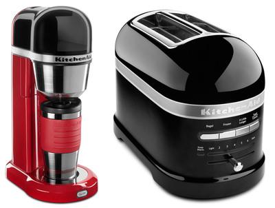 Personal Coffee Maker and Pro Line Toaster.  (PRNewsFoto/KitchenAid)