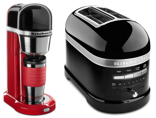 Personal Coffee Maker and Pro Line Toaster.  (PRNewsFoto/KitchenAid)