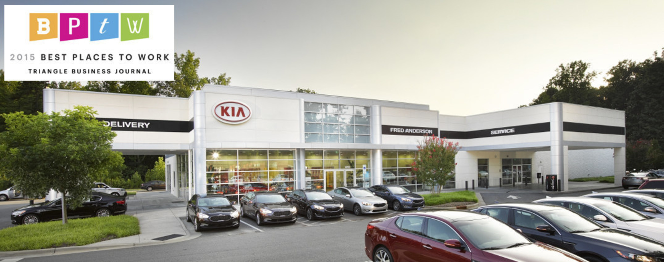 Fred Anderson Kia and the Anderson Automotive Group recognized as one of the Best Places to Work