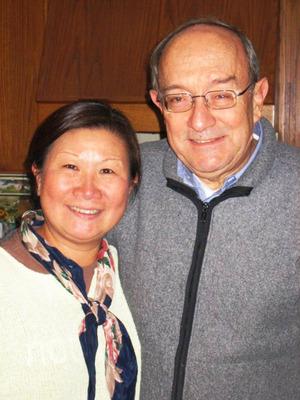 Professor George F. Farris and his wife Sukyin Agnes Farris. Professor Farris spent 31 years at Rutgers Business School.  (PRNewsFoto/Rutgers Business School)