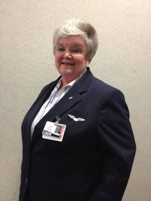 US Airways Flight Attendant Sali Burgard celebrated her 50th anniversary with the company this month.  (PRNewsFoto/US Airways)