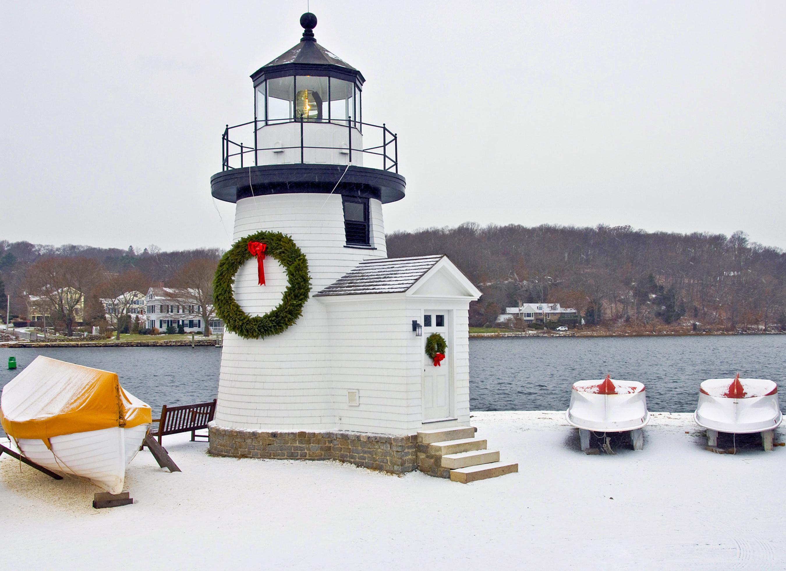 Mystic Seaport Lighthouse, Mystic, Conn. Courtesy of Mystic Seaport.