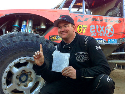 Nitto-sponsored driver Loren Healy of Farmington, N.M., took the top spot at this year's Griffin King of the Hammers off-road race in the #67 Jimmy's 4x4 ATX Wheels/Nitto Tire Ultra4 buggy.  (PRNewsFoto/Nitto Tire)