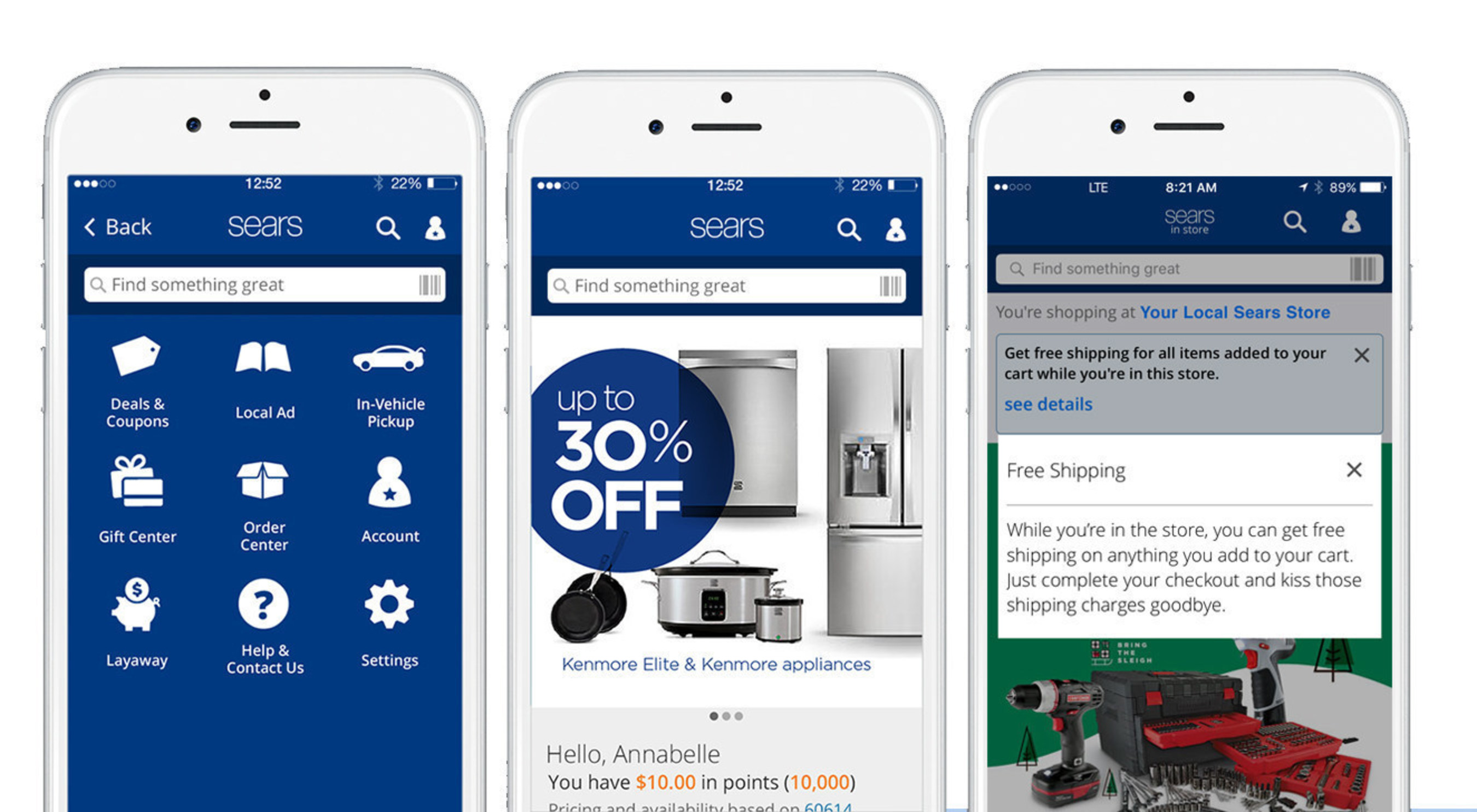 Sears Upgrades Mobile App, Introduces Free In-Store Shipping From Mobile Device