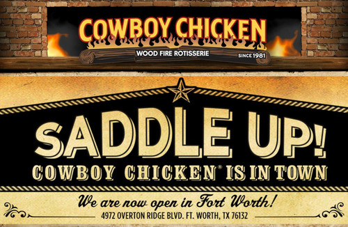Cowboy Chicken Now Open In Ft. Worth, Texas. (PRNewsFoto/Cowboy Chicken) (PRNewsFoto/COWBOY CHICKEN)