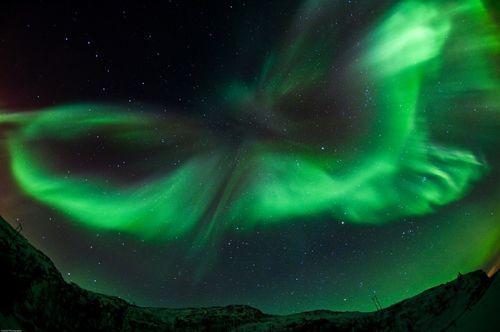 Northern Lights at Kvaloya, Tromso/ Gaute Bruvik (PRNewsFoto/Visitnorway)