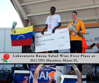Laboratorio Buena Salud wins first place at the ING Marathon.  (PRNewsFoto/Laboratorio Buena Salud)