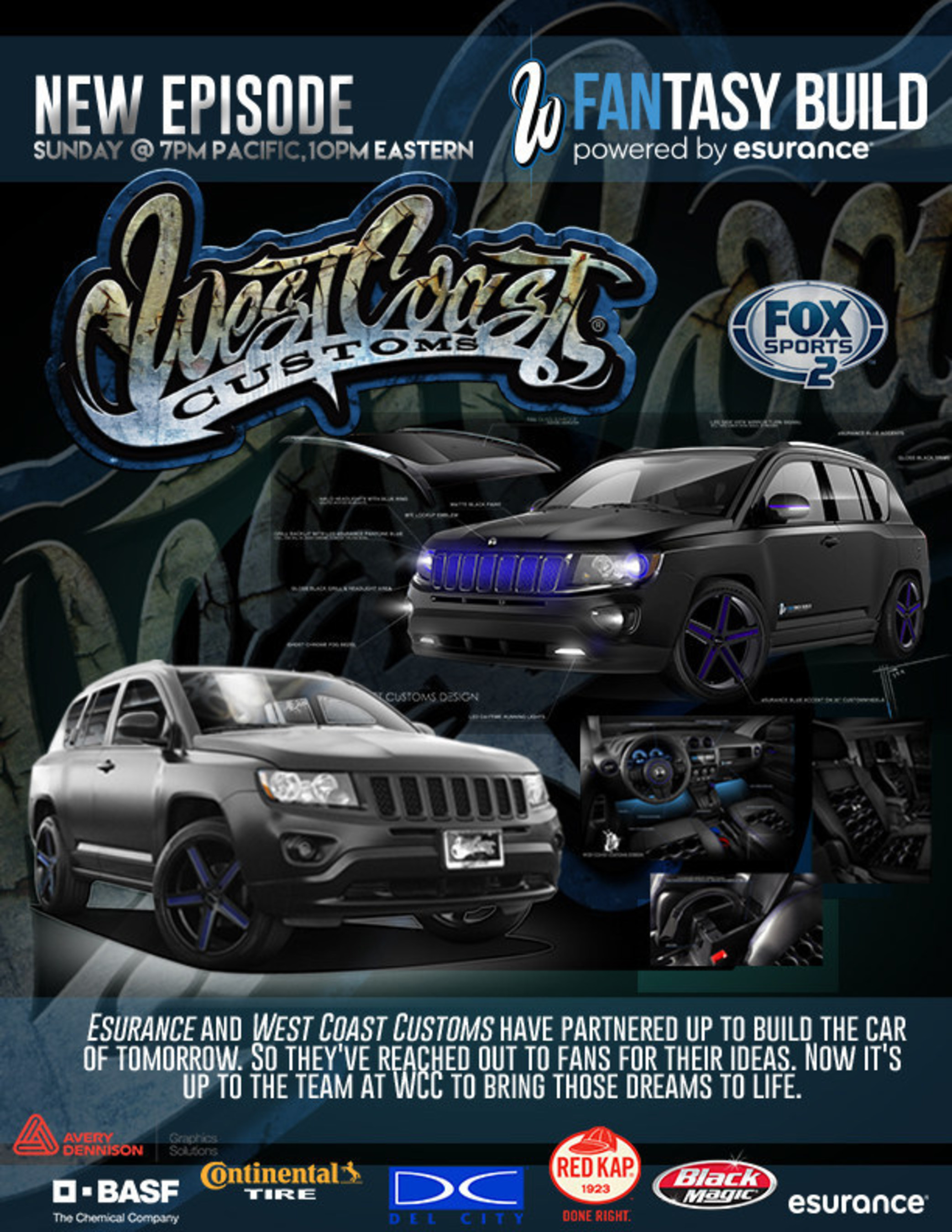 west coast customs returns to fox sports 2 this sunday november 23 with all new episodes. Black Bedroom Furniture Sets. Home Design Ideas