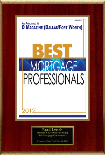 "Brad Lynch Selected For ""Best Mortgage Professionals"".  (PRNewsFoto/American Registry)"