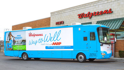 Walgreens Way to Well Health Tour with AARP delivers free health tests (PRNewsFoto/Walgreens)