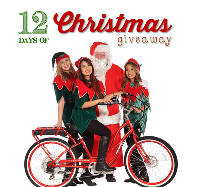 """Pedego Electric Bikes Offers a Free Bike Each Day! 'Tis the season for Pedego's """"12 Days of Christmas"""" bicycle giveaway sweepstakes."""