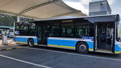 EV bus charging in Xiaoying Charging Complex