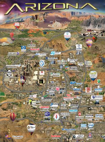 Silicon Desert Map Profiles Arizona's Growing High-Tech Region