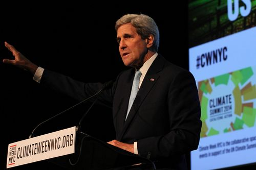 US Secretary of State John Kerry speaks at Climate Week NYC Opening Day 2014 (PRNewsFoto/The Climate Group)