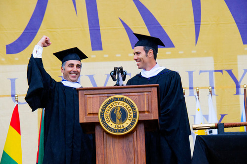 Republic Records Founders Monte and Avery Lipman Deliver University at Albany Commencement Address