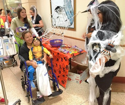 Patients at St. Joseph's Children's Hospital in Tampa celebrated Halloween by trick-or-treating throughout the hospital on Friday, Oct. 30, 2015.