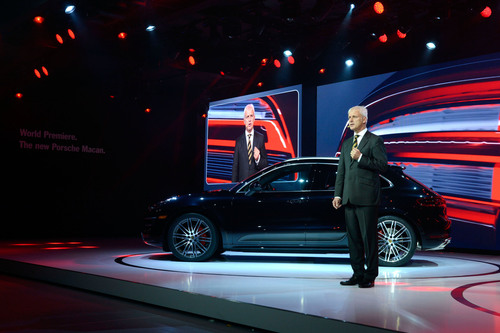 Porsche Macan World Debut at Los Angeles Auto Show.  (PRNewsFoto/Porsche Cars North America, Inc.)
