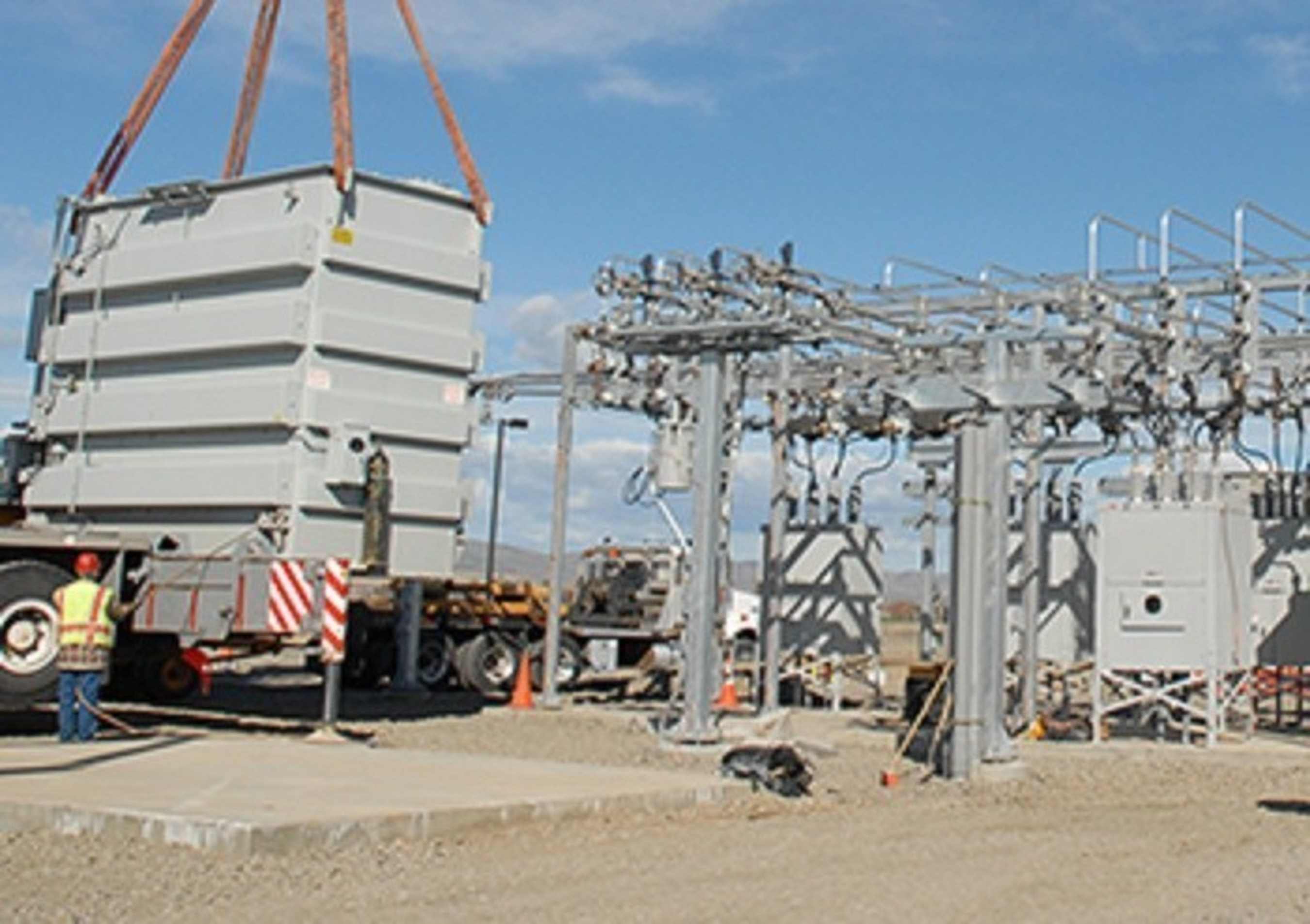 Grant County PUD Electrical Power Substation in the Port of Quincy
