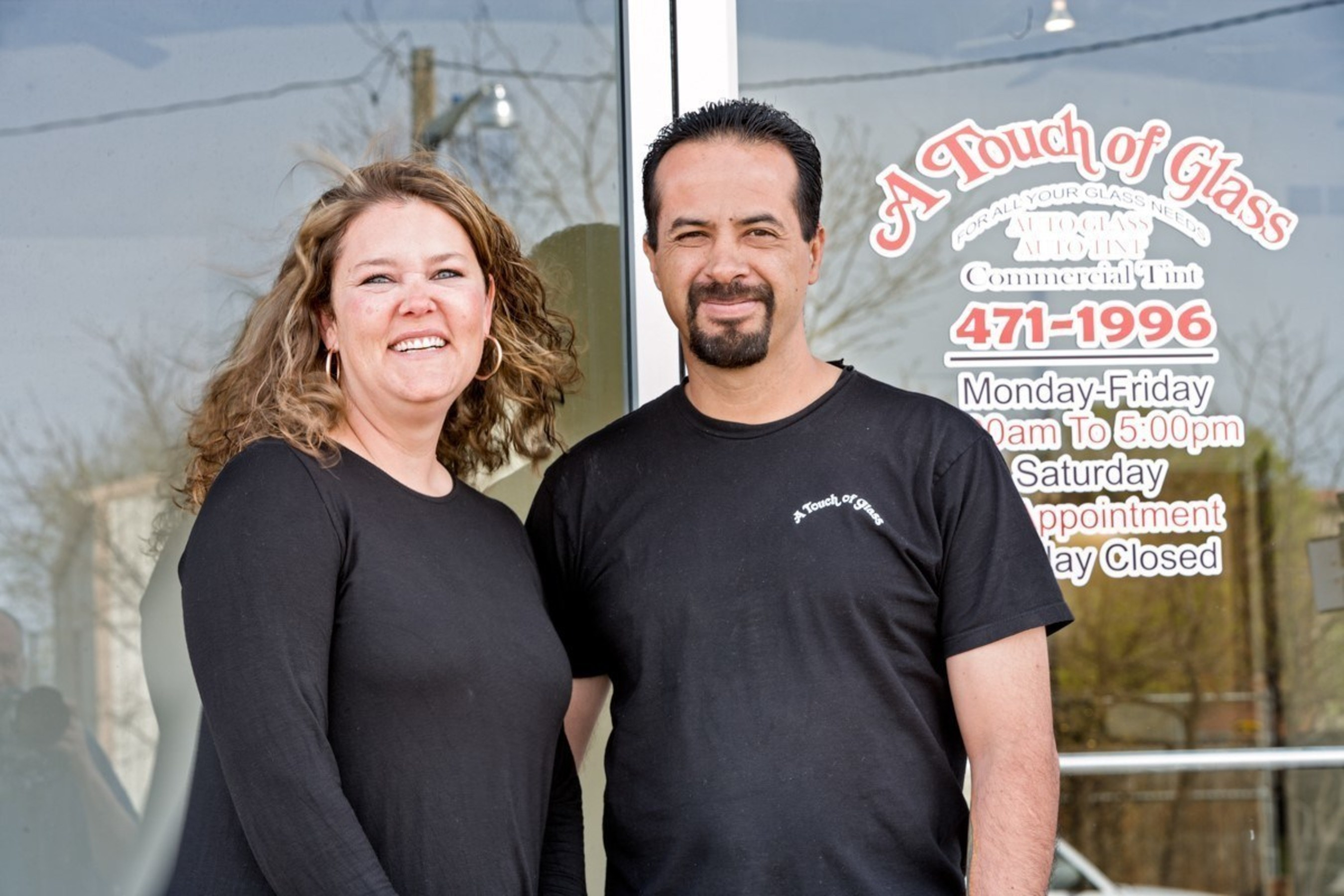 A Touch of Glass owners, Andy and Traci Carrillo, received a $25,000 small business grant from Century Bank and the Federal Home Loan Bank of Dallas to help renovate their new location.