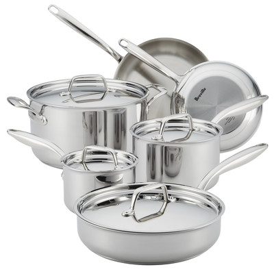 Breville Thermal Pro Clad Cookware 10-Piece Set